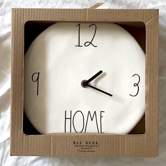 """Rae Dunn """"Home"""" 9"""" Wall Clock ⚠️ FIRM"""